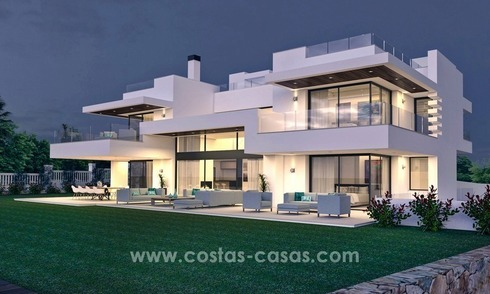 Moderne beachside design villa te koop in Marbella West